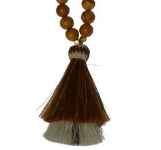 Double Horsehair Tassel Necklace  Brown by ElizabethLanier on Etsy Horse hair tassel The tassel is from http://knot-a-tail.com/catalog/16  #horsehair tassels
