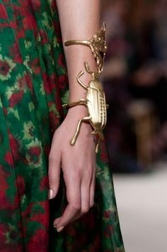 Gold beetle cuff from Giambattista Valli haute couture A'12