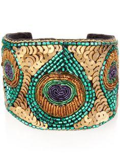 Peacock bracelet