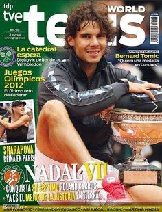 "Rafa on the cover of ""Tenis World"" magazine. via Twitter user @SitTanyusha"