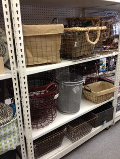 Tuesday Morning has plenty of baskets for home office storage! Tuesday Morning Store, Home Office Storage, Patio Table, Kitchen And Bath, Living Room Furniture, Repurposed, Craft Supplies, Baskets, Decor Ideas
