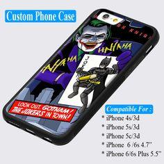 Joker And Batman Poker Card