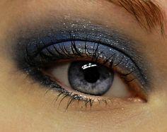 Shimmery Indigo Blue Eyeshadow TWILIGHT Mineral MINI by BLSoaps, $3.95
