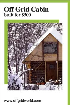 Can you build an off grid cabin for $500 without a permit or building codes? Absolutely! It sounds impossible but it's not. Especially if you realize exactly what it is and what it means before moving forward with your build. #offgrid #cabin #tinycabin #offgridliving #offgridcabin #diycabin Building A Cabin, Building Code, Diy Cabin, Off Grid Cabin, Urban Survival, Off The Grid, Moving Forward, Cabins, House Ideas
