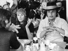 Alain Delon avec l'actrice Ali McGraw, compagne de Steve McQuenn - 1960 © Photo sous Copyright