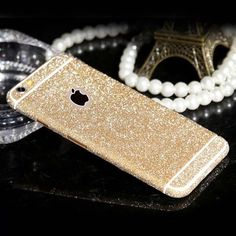 Hot Sale fashion Shiny Full Body Glitter for apple iPhone 5 5S 6 6S Cute Candy Color Phone Sticker Matte Screen Protector