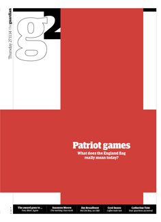 Guardian g2 cover: Patriot games (on the meaning of the England flag)