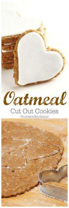 oatmeal cut out cookies @createdbydiane www.createdby-diane.com
