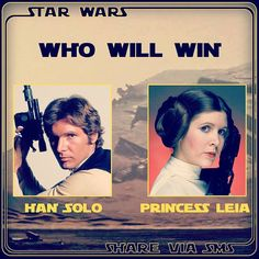 Are you are Star Wars fan from Pakistan? Who will win if Han Solo battles Princess Leia? Share Via SMS is supporting fans with cool new local stickers. #pakistan #starwars #hansolo #shareviasms #downloadapp