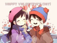 South Park - Stan Marsh x Wendy Testaburger - Stendy! It's not Valentine's Day but I found this adorable