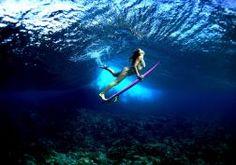 board ocean girl surf surfing bikini sexy babe underwater wallpaper
