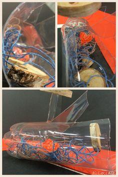 Composities met kapot gemaakte voorwerpen -