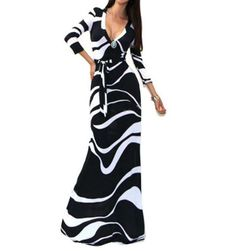 Summer Fashion Sexy Deep V Dress Women Package Hip Maxi Dress Fashion Long Printed Dress Women Club Dress Vestido www.essish.com