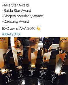 Guys !! Omg so proud of our boys, they owned that awards night with 5 awards ! (The fifth one being baekhyuns own popularity award) 👍😁 - #exol #sehun #exomeme #kai #exom #baekhyun #kpopmeme #exok #chanyeol #lay #weareone #exomemeindo #chen #kyungsoo #tao #luhan #xiumin #kris #exo #exlikes #f4f #suho #hunhan #do #zhangyixing #xiluhan #parkchanyeol #kimminseok #ohsehun #kimjongdae Please like my previous and follow me