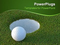Golf powerpoint templates and backgrounds free green powerpoint powerpoint template golf ball on green just centimeters from the toneelgroepblik Image collections