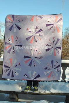 Dresden Sparkles Quilt by Nicole of The Girl Who Quilts