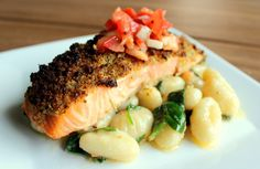 Herb Crusted Salmon Feature