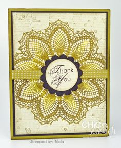 Stampin' Up! Card Galleries | my card today is a swap card i received from tricia and i was super ...