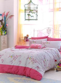 ACCESSORIZE Oriental Birds Bedding Set - bedding sets - bedding  - For The Home