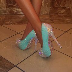 #swarovski covered #heels #crystal4u #tiffanyshoe