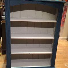 Annie Sloan Chalk Paint Bookcase Annie Sloan Chalk Paint Blue, Painting Bookcase, Pine Bookcase, Random House, Building Ideas, Painted Furniture, House Ideas, Decor Ideas, Study