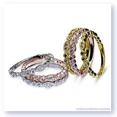 GatheRings Stack 'em up! #Cefalu by #MarkSilversteinImagines @arthursjewelers #rosegold #diamonds #love #minnesota #minneapolis #accessories #styletips #weddingband