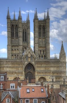 View of Lincoln Cathedral from the castle wall
