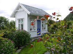 Tiny house in the garden at Haaheim Gaard, Tysnes, Hordaland, Norway.