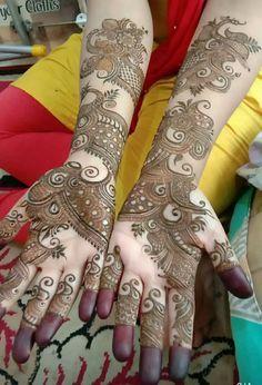 Dulhan Mehndi Designs, Rajasthani Mehndi Designs, Mehndi Designs Finger, Latest Bridal Mehndi Designs, Khafif Mehndi Design, Floral Henna Designs, Latest Arabic Mehndi Designs, Henna Hand Designs, Full Hand Mehndi Designs