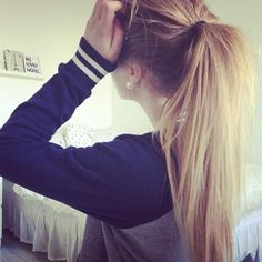 ponytail. my hair pretty much everyday when i get home.
