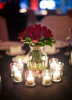 This is Budget Friendly Rustic Real Wedding Ideas on Simple Floral Rose Centerpiece. We have curated Many Ideas about Floral Rose Centerpiece for you perfect wedding. Red Rose Wedding, Wedding Flowers, Blush Flowers, Bougie Rose, Red Centerpieces, Centrepieces, Centerpiece Ideas, Romantic Table, Christmas Wedding