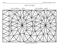 100 day coloring activity