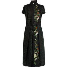 Wyhatt python-print silk dress Preen By Thornton Bregazzi MATCHESFASHION.COM featuring polyvore, women's fashion and clothing