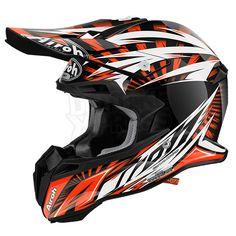 2016 Airoh Terminator 2.1 Helmet - Lightning Orange Gloss