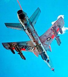 Fully loaded Republic F-105 Thunderchief. (Thud).