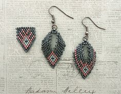 Linda's Crafty Inspirations: Russian Leaf Earrings - Embellished with Anabel's Design ~ Seed Bead Tutorials