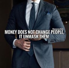Positive Quotes : QUOTATION – Image : Quotes Of the day – Description Money doesnt change people.. Sharing is Power – Don't forget to share this quote ! https://hallofquotes.com/2018/03/20/positive-quotes-money-doesnt-change-people/