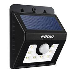 Patio pour Jardin 20 LED Lumi/ère Lampe Solaire avec D/étecteur Modes Intelligents /Éclairage mural de S/écurit/é All/ée Pont 2 Pack Garage Exterieur