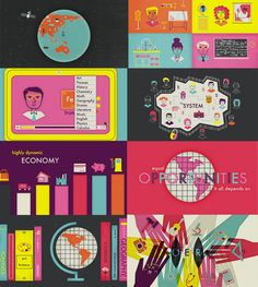 The OERs - Open Educational Resources by Victoria Fernandez, via Behance