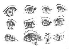 New batch of Manga and Chibi eyes by rroxyann