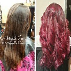 By: Abigail Jeen #AcappellaSalon #haircolor #eufora #euforacolor #purplehair #magenta