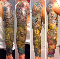 studio-ghibli-full-sleeve-tattoo-1