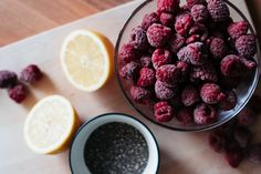 Raspberry Chia Jam — Natural Always Raspberries, Chia Seeds, Superfoods, How To Introduce Yourself, Healthy Lifestyle, Banana, Base, Diet, Colour