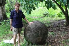 The mysterious stone spheres in Costa Rica. This one was near the Drake Bay airport on the Osa peninsula.