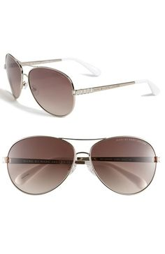 MARC BY MARC JACOBS 60mm Aviator Sunglasses available at #Nordstrom