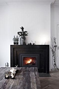 Black Fireplaces Automatism Monday White Bedroom Door Doors Front Design Wooden