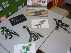 Dinosaurussen - Een kijkje in de tweede kleuterklas Dinosaur Classroom, Dinosaur Theme Preschool, Dinosaur Activities, Dinosaur Crafts, School Age Activities, Pre K Activities, Daycare Crafts, Preschool Crafts, Dinosaur Display