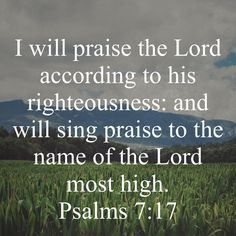 Daily Word, Most High, Praise The Lords, Righteousness, Psalms, Singing, Names, Words