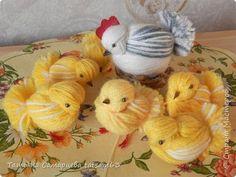 Цыплята из пряжи своими руками. Мастер-класс
