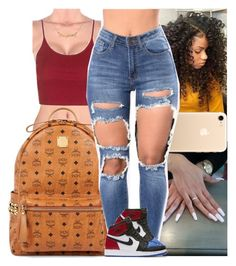 """""""Untitled #1074"""" by msixo ❤ liked on Polyvore featuring Topshop, MCM and NIKE"""